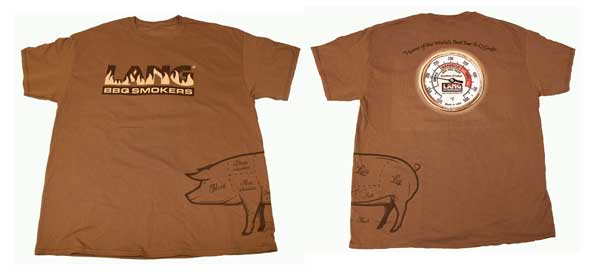 Lang BBQ Smokers® T-Shirt - Unisex Brown