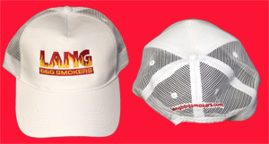 White Half Mesh Hat