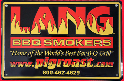 Lang BBQ Smokers; Metal Sign