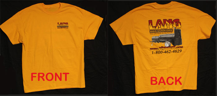 Lang BBQ Smokers® T-Shirt - Unisex Yellow