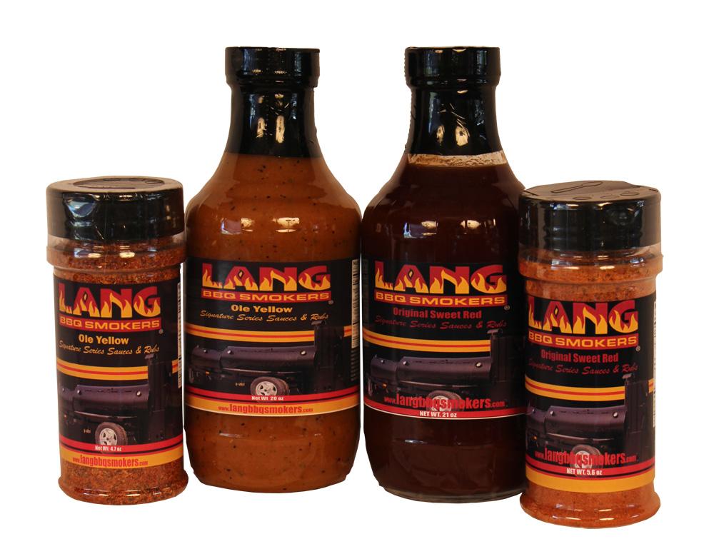 Lang Rub/Sauce Four Pack Sampler
