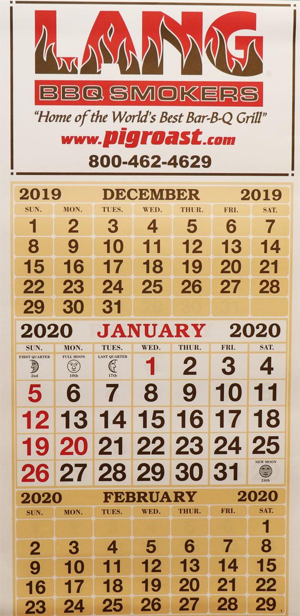 Lang 2020 Wall Calendar