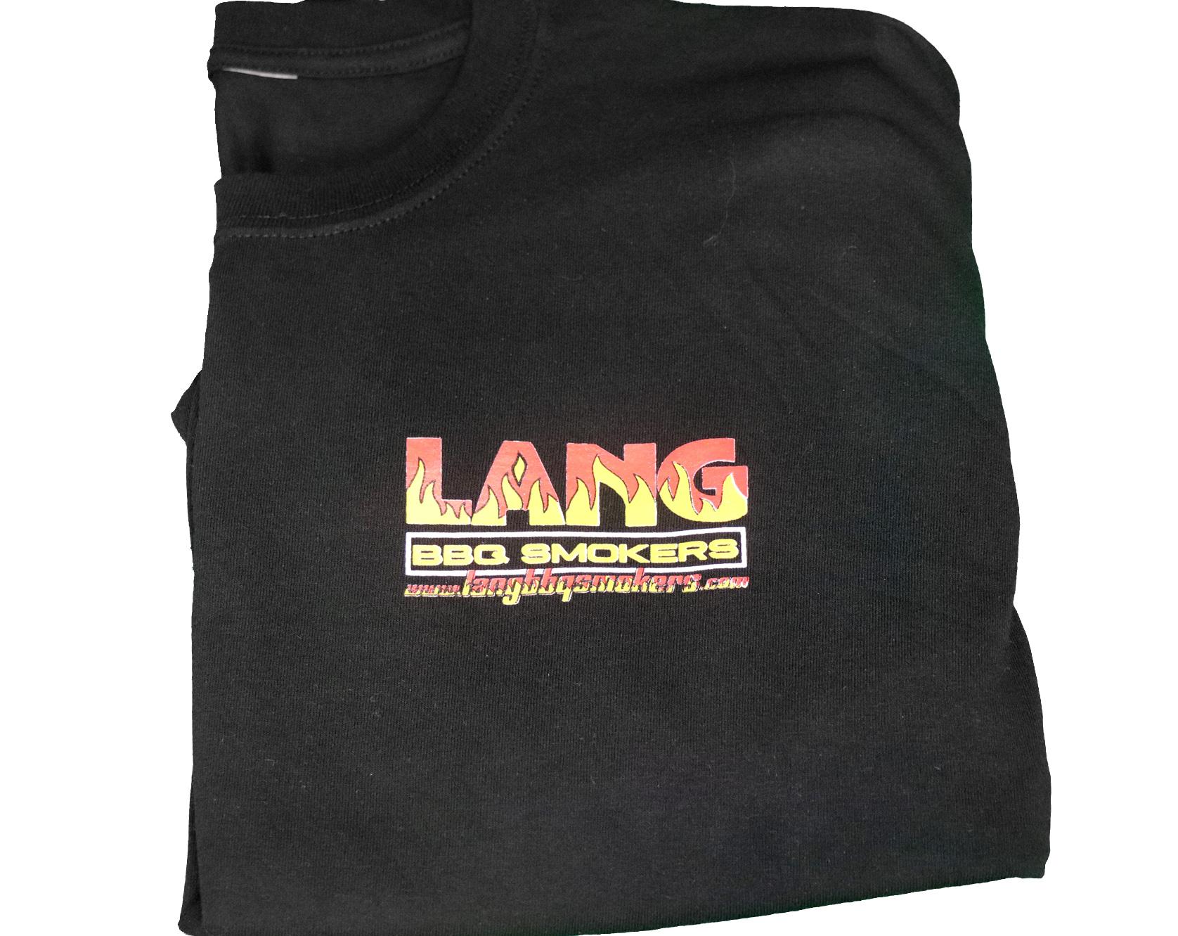 New Unisex Black Lang BBQ Smokers® T-Shirt